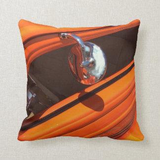 Cotton Throw Pillow, Classic Car Design Cushion