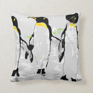 Cotton Throw Pillow, Penquins Cushion