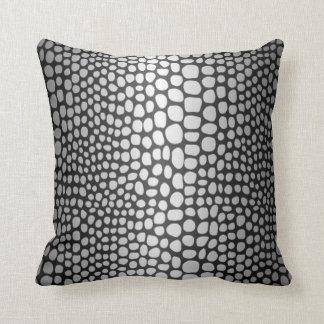 Cotton Throw Pillow Snake Skin