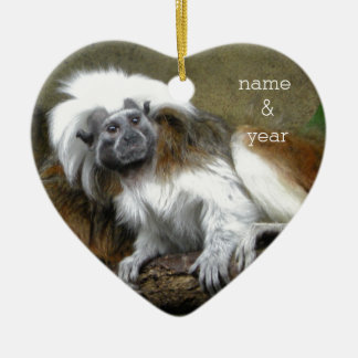 Cotton Top Tamarins Christmas Ornament