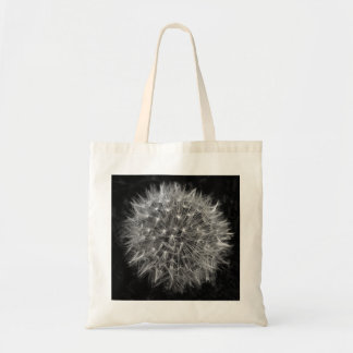 Cotton tote bag with dandelion print