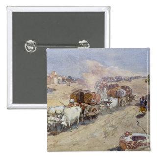 Cotton Transport, India, 1862 (w/c over pencil hei 15 Cm Square Badge