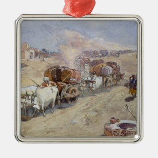 Cotton Transport, India, 1862 (w/c over pencil hei Christmas Ornament