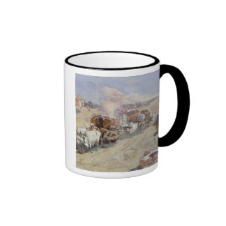 Cotton Transport, India, 1862 (w/c over pencil hei Ringer Coffee Mug