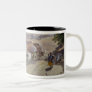 Cotton Transport, India, 1862 (w/c over pencil hei Two-Tone Coffee Mug