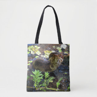 Cottonmouth / Water Moccasin / Snake  Tote Bag