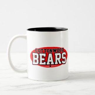 Cottonwood High School; Bears Two-Tone Mug