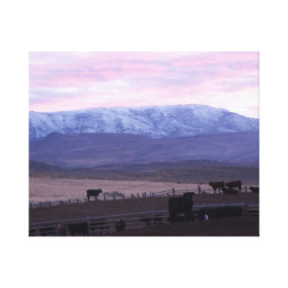 Cottonwood Mountain Sunset Canvas Print
