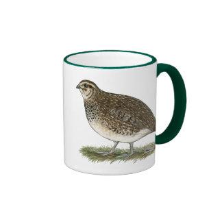 Coturnix Quail Hen Ringer Mug