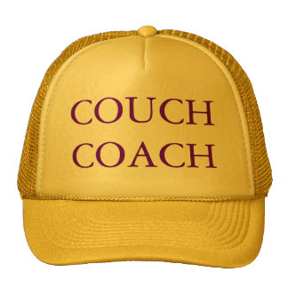 COUCH COACH Yellow and Purple Cap Trucker Hats
