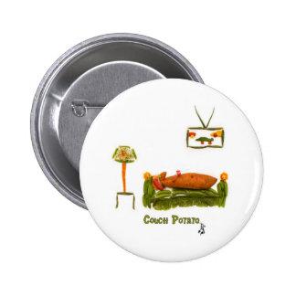 Couch Potato Accessories 6 Cm Round Badge