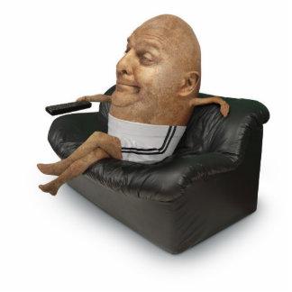 Couch Potato Paper Sculpture Photo Cut Outs