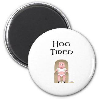 Couch Potato Pig Hog Tired Fridge Magnets