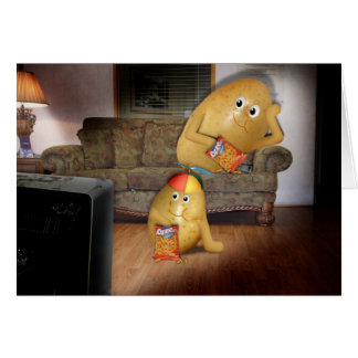 Couch Potatoes Father and Son Greeting Card