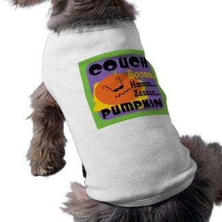 COUCH PUMPKIN SLEEVELESS DOG SHIRT