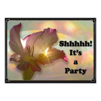couché du soleil Floral Surprise party invite