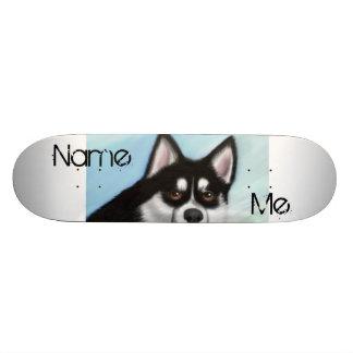 CouchPetatoArt Create Your Own Pomsky Skateboard