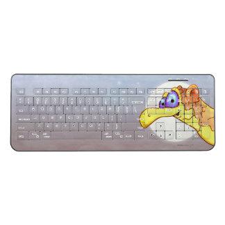 COUCOU BIRD ALIEN CARTOON Custom WirelessKeyboard Wireless Keyboard