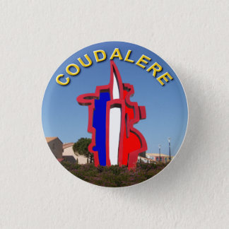 coudalere the barcarès swipes in 3 cm round badge