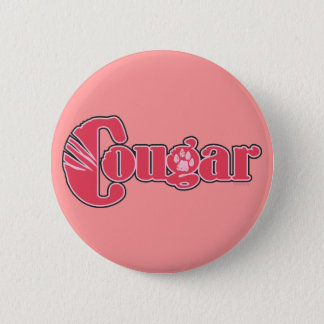 Cougar 6 Cm Round Badge