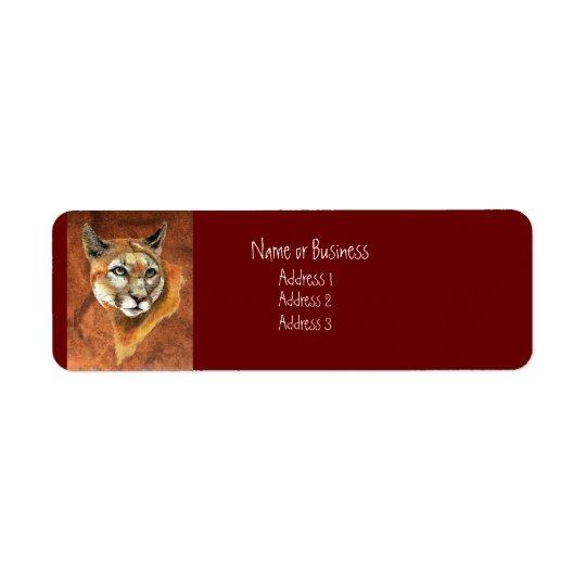 Cougar Address Label