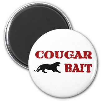 Cougar Bait 6 Cm Round Magnet
