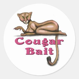 Cougar Bait Round Sticker