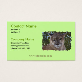 Cougar Cat Business Card