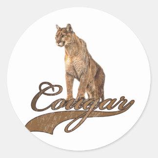 Cougar Classic Round Sticker