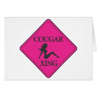 Cougar Crossing Pink Card