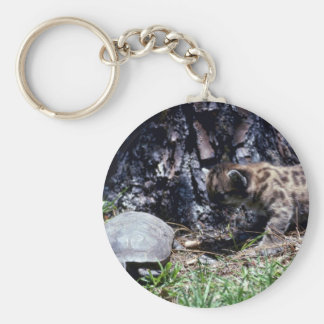 Cougar cub and Tortoise Keychains