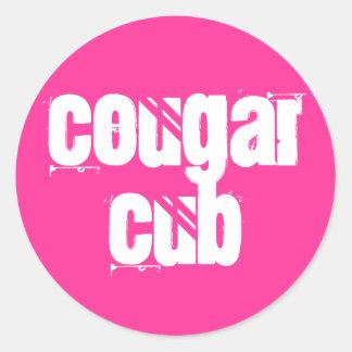Cougar Cub Round Sticker