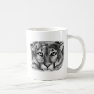 Cougar Drawing Coffee Mug