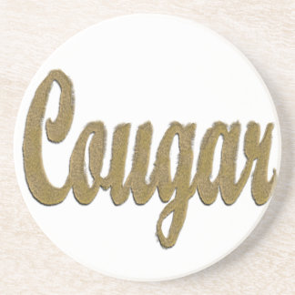 Cougar - Furry Text Drink Coaster