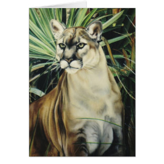 """Cougar"" Greeting Card"