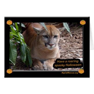 Cougar Halloween Card Simple