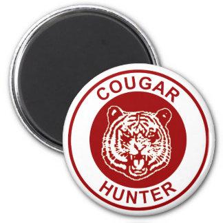 Cougar Hunter 6 Cm Round Magnet