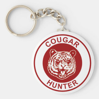 Cougar Hunter Basic Round Button Key Ring