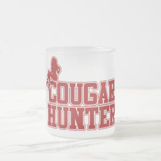 Cougar Hunter Frosted Glass Coffee Mug