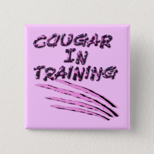 Cougar In Training Square Button