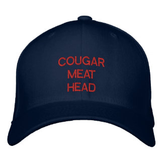 """COUGAR MEAT HEAD"" embroidered on cap Embroidered Hats"