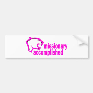 Cougar Missionary Accomplished Bumper Sticker