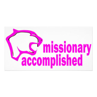 Cougar Missionary Accomplished Personalized Photo Card