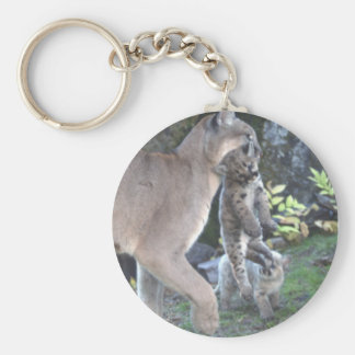 Cougar Mom and Cubs Key Chain