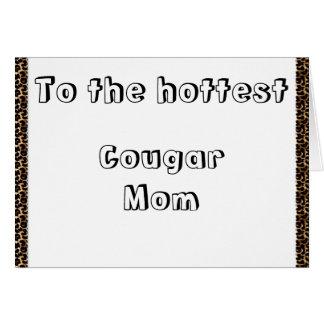 Cougar Mom Card