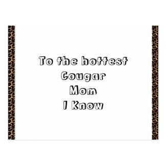 Cougar Mom Postcard