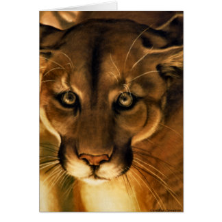 Cougar - Mountain Lion - Puma Greeting Card