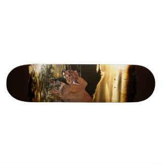 Cougar Mountain Lion Wild Cat Skateboard