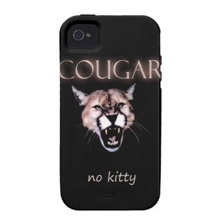 Cougar no kitty iPhone 4/4S case