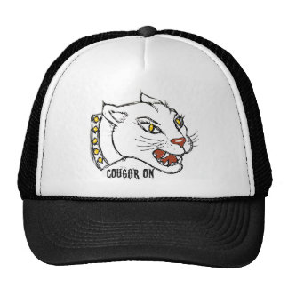 COUGAR ON - PRINT by jill Hats